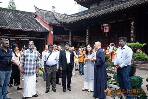 斯里兰卡外交部国务部长一行赴成都文殊院参访交流